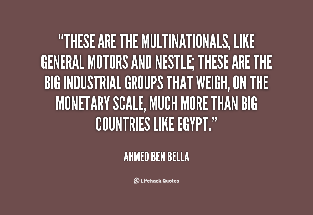 Multinationals quote #2