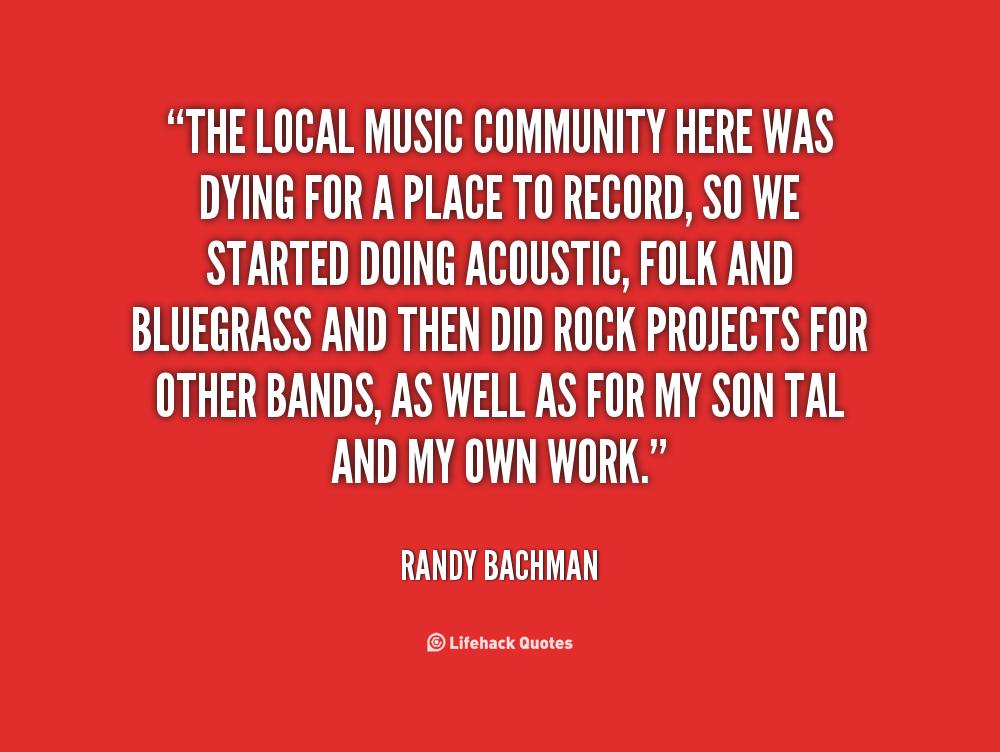 Music Community quote #2