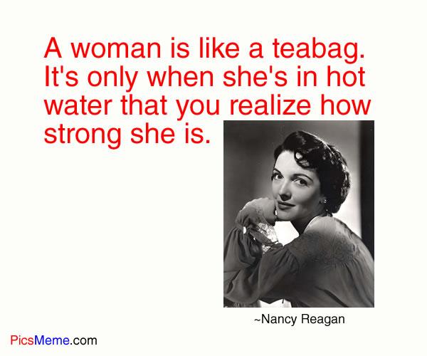 Nancy Reagan quote #1