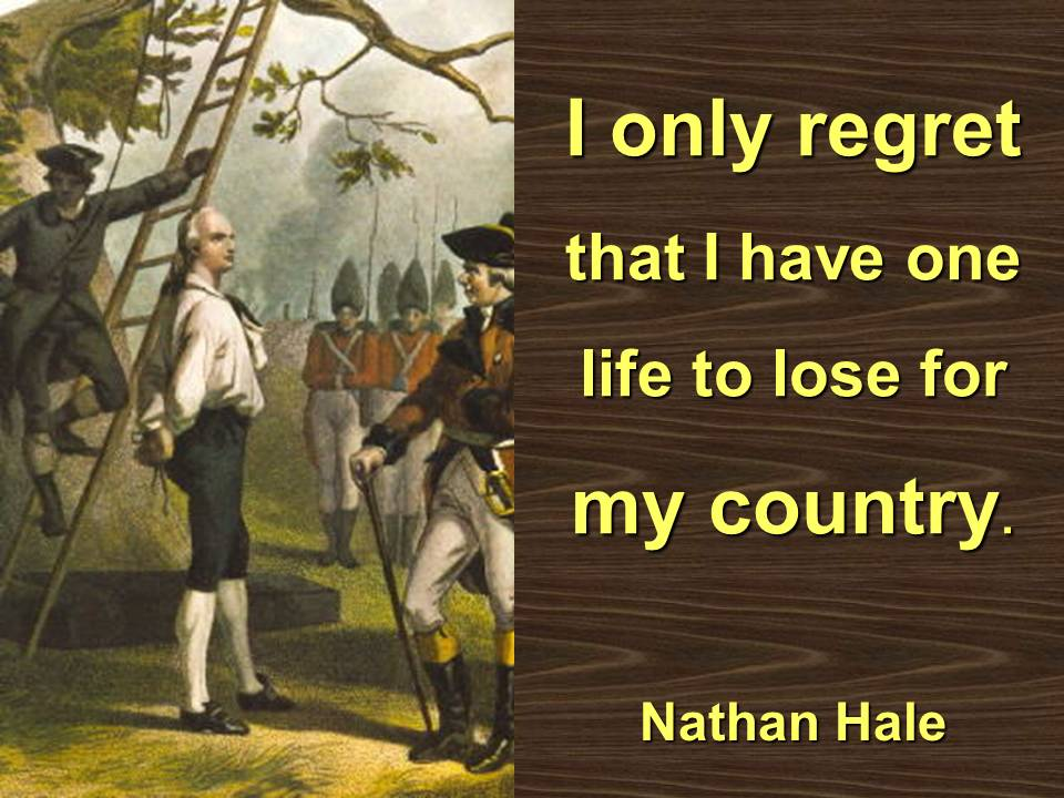 Nathan Hale's quote #2