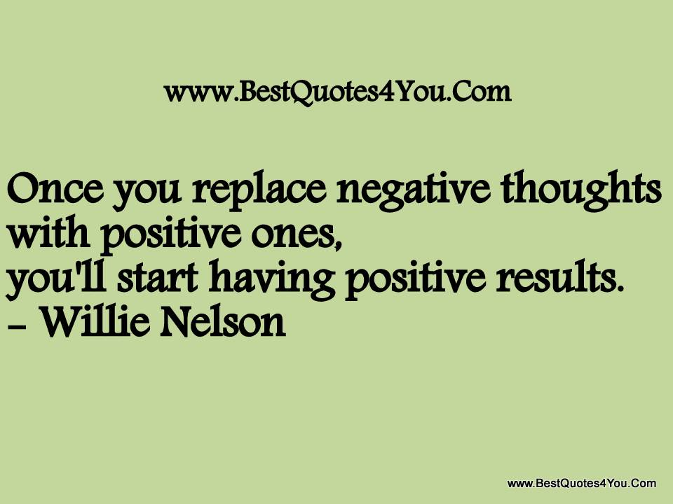 Negative Thoughts quote #1