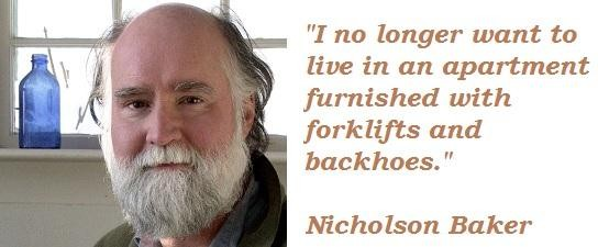Nicholson Baker's quote #1