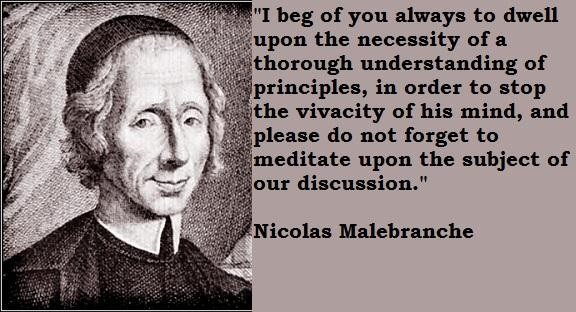 Nicolas Malebranche's quote