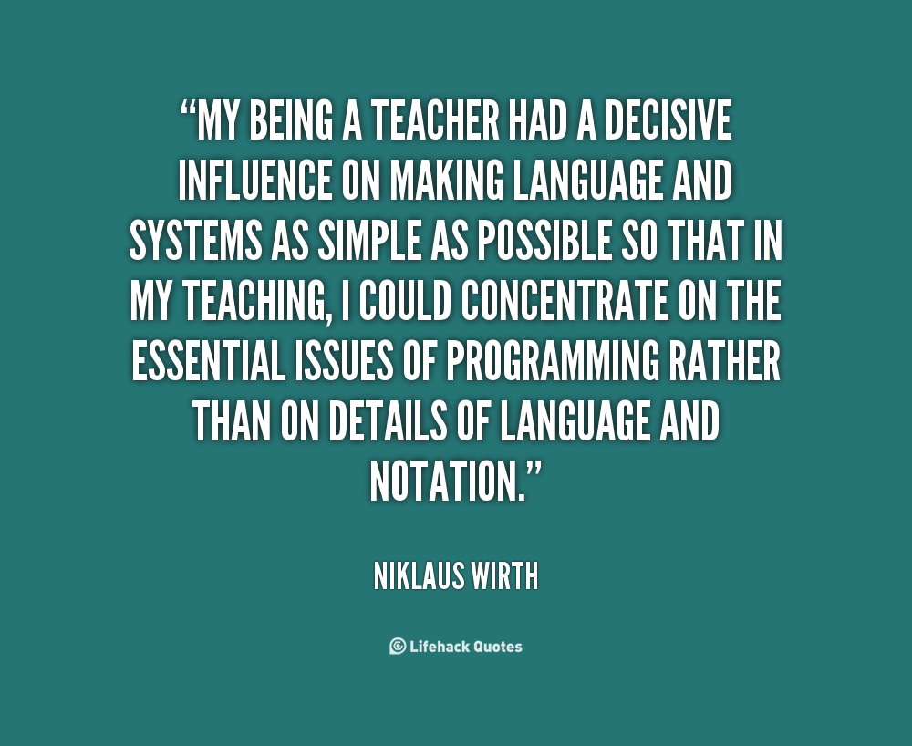 Niklaus Wirth's quote #8