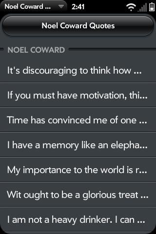Noel Coward's quote