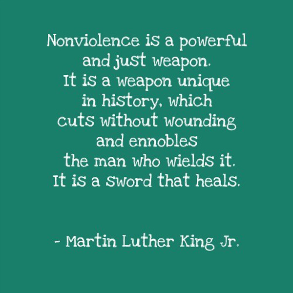 an essay on non-violence King stated that he was first introduced to the concept of nonviolence when he read henry david thoreau's essay on nonviolent resistance avoids.
