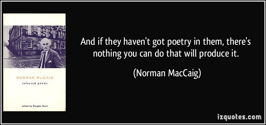 Norman MacCaig's quote #6