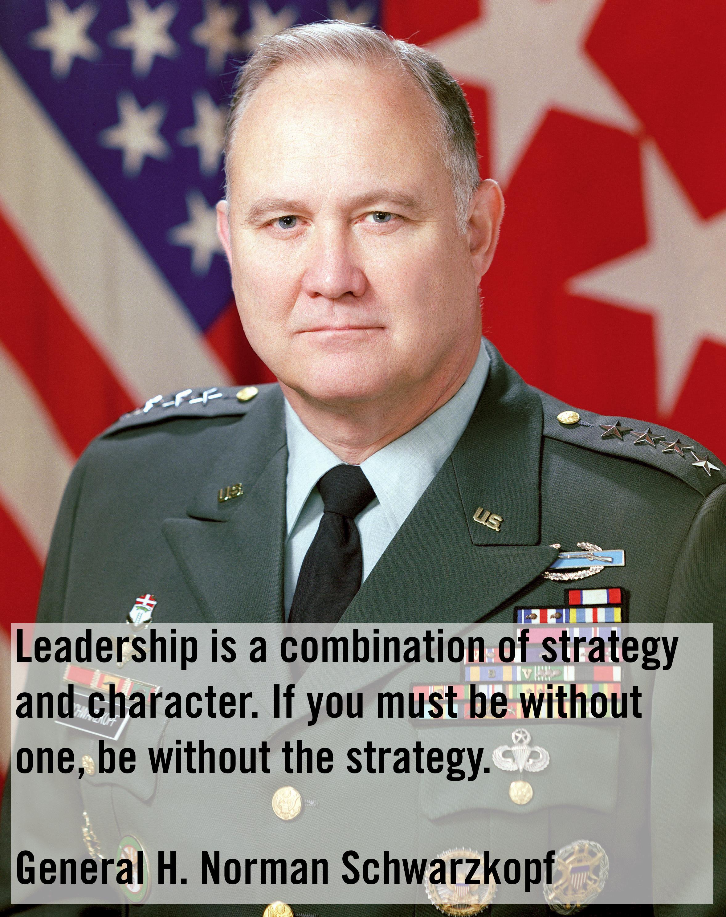 Norman Schwarzkopf's quote