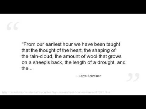 Olive Schreiner's quote #5