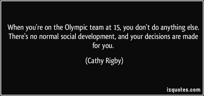 Olympic Team quote #1