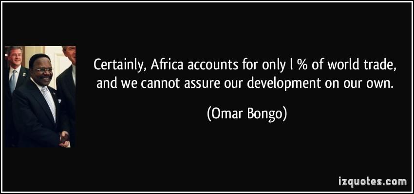 Omar Bongo's quote