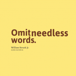 Omit quote #1