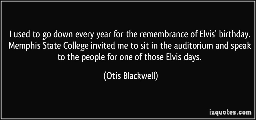 Otis Blackwell's quote #5