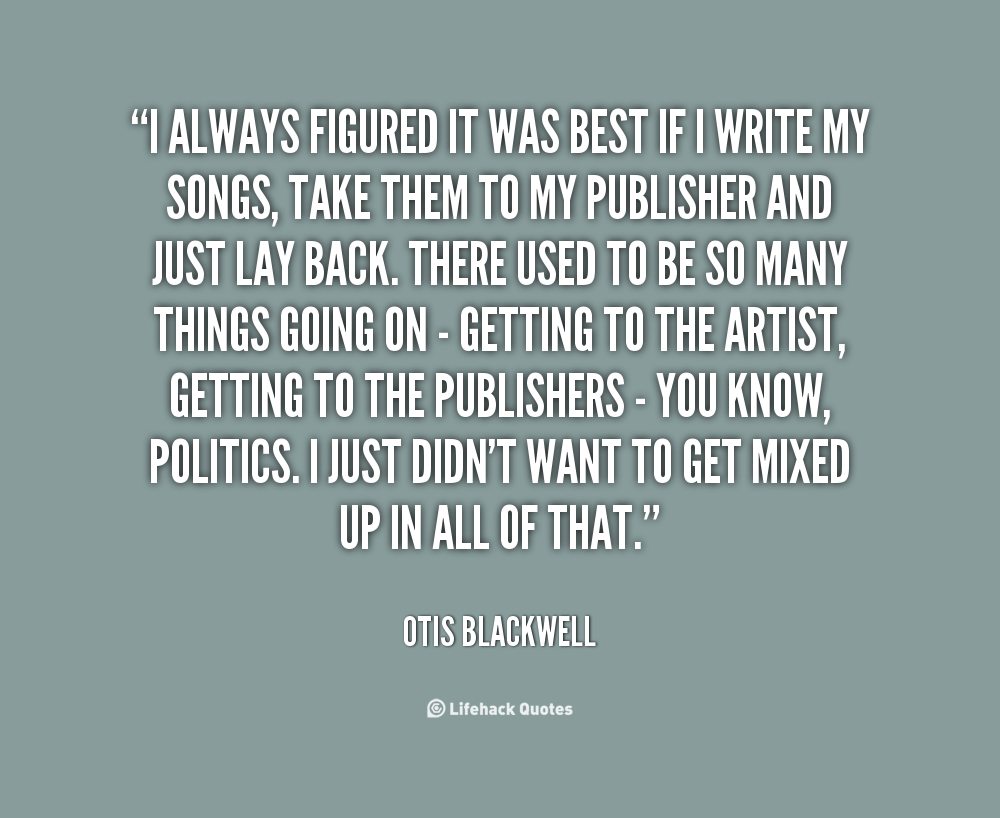 Otis Blackwell's quote #7