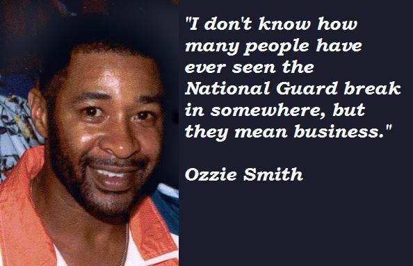 Ozzie Smith's quote