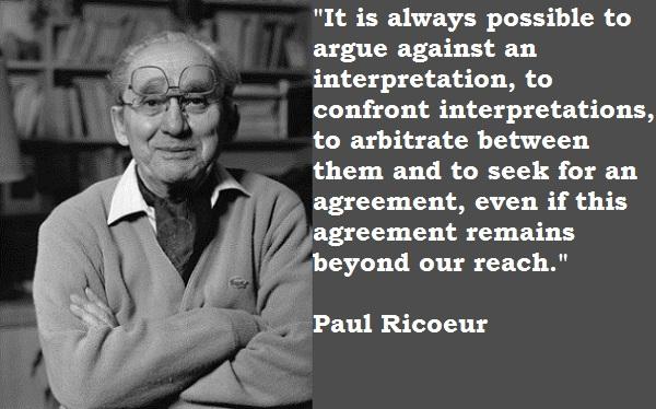 Paul Ricoeur's quote #1