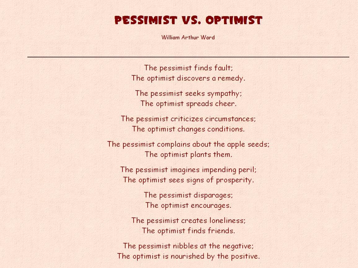 Pessimism quote #2