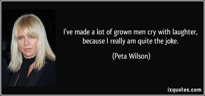 Peta Wilson's quote