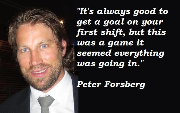Peter Forsberg's quote #2