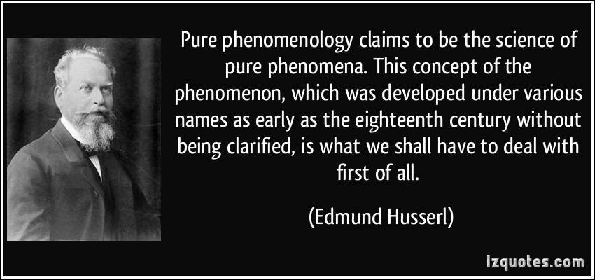 Phenomenology quote #1
