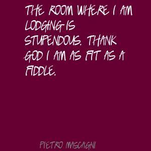 Pietro Mascagni's quote