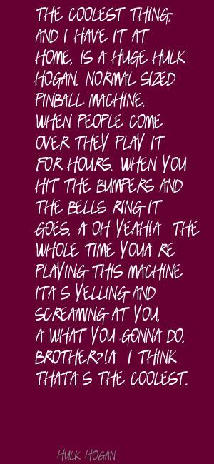 Pinball quote #1