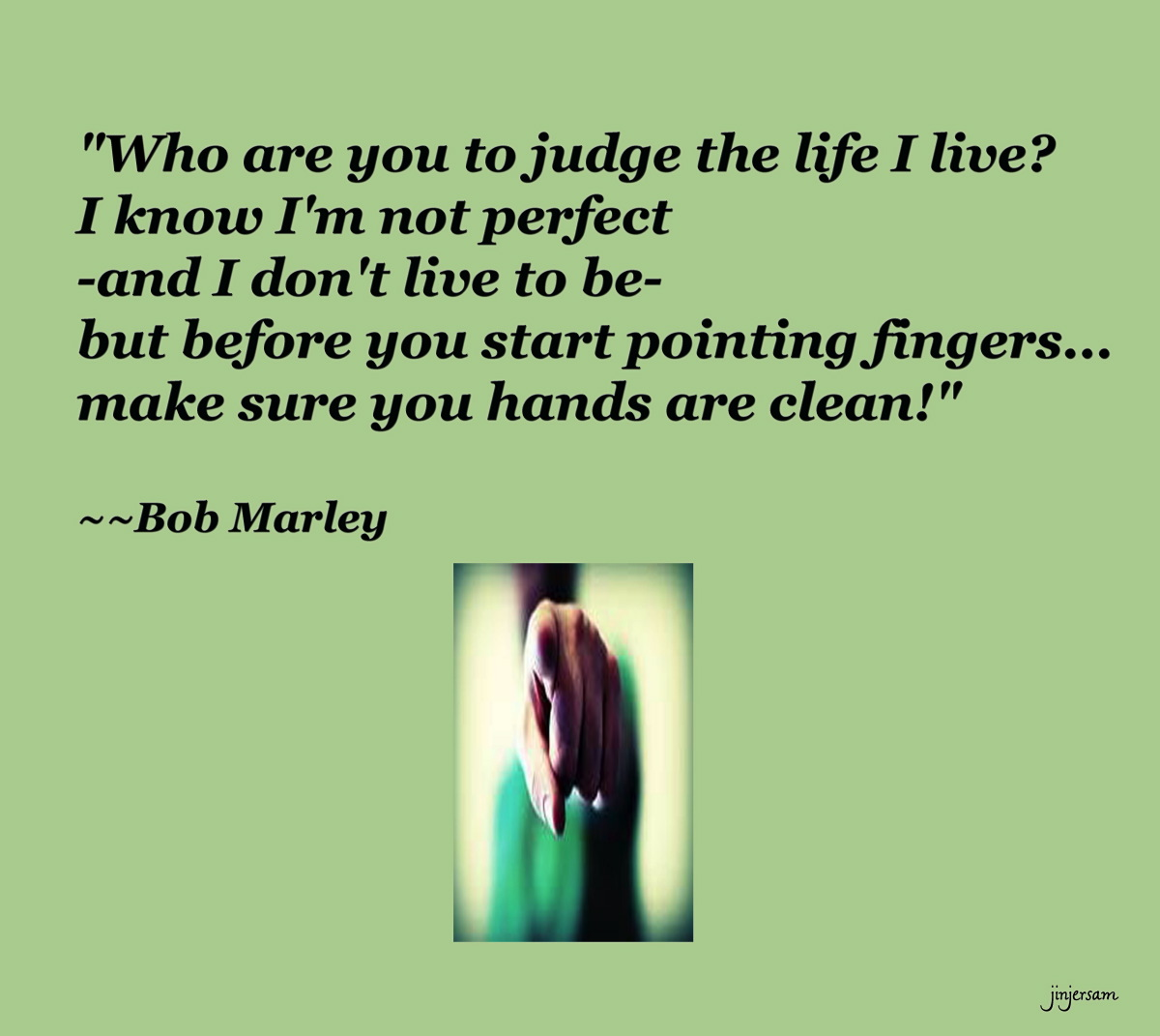 Pointing Fingers quote #2