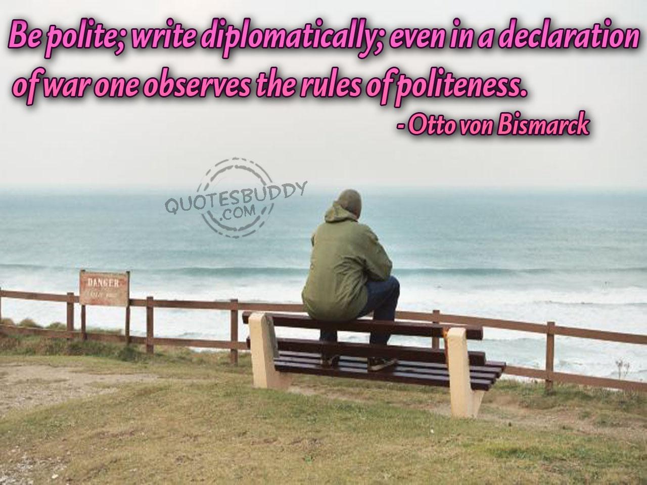 Politeness quote #2