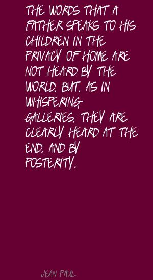 Famous quotes about 'Posterity' - Sualci Quotes