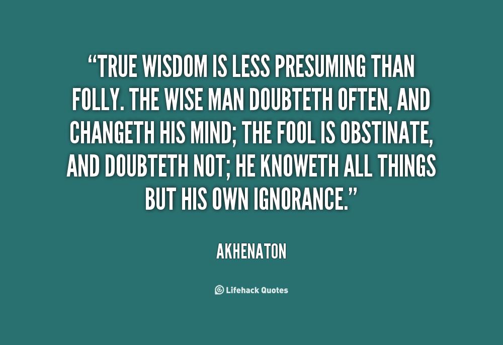 Presuming quote #2