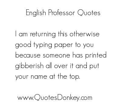 Professor quote #4