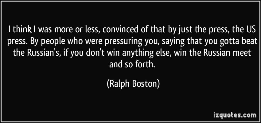 Ralph Boston's quote #2