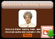 Rebecca Harding Davis's quote #4
