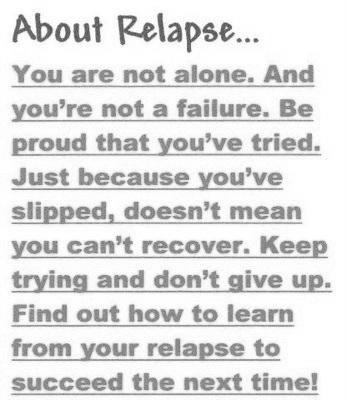 Relapse quote #1