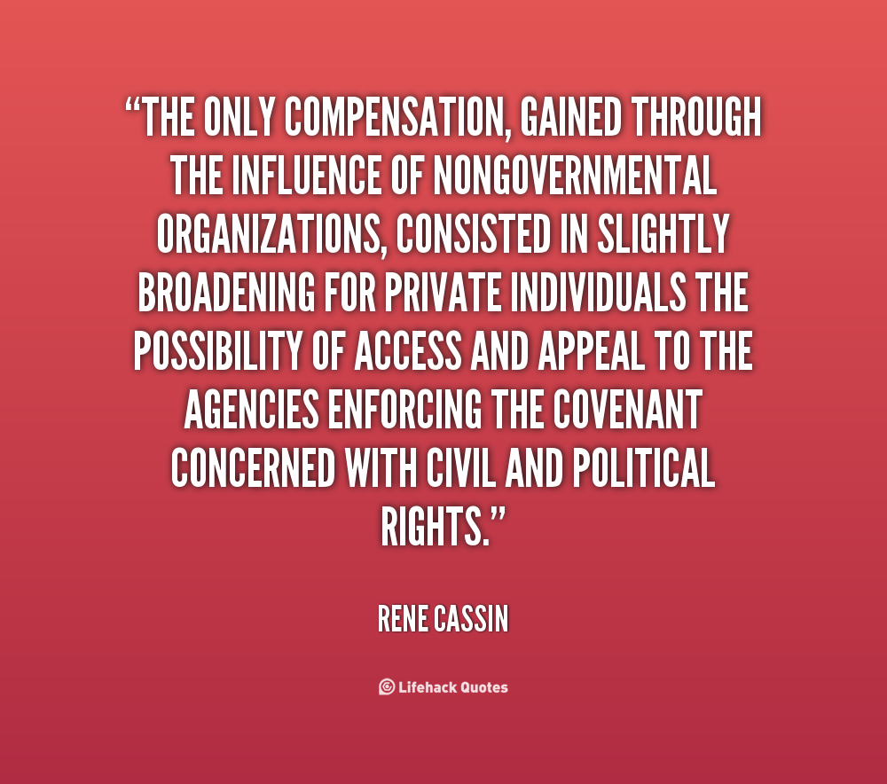 Rene Cassin's quote