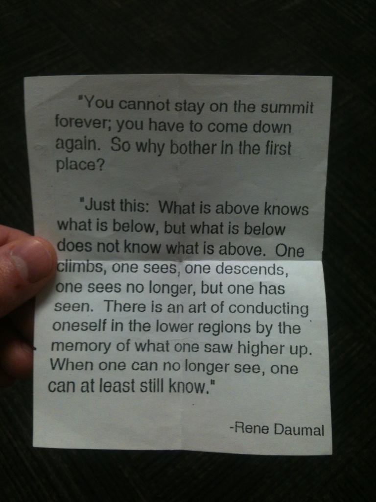 Rene Daumal's quote #2