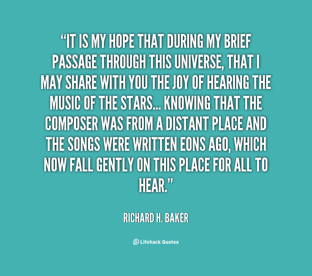 Richard H. Baker's quote #1