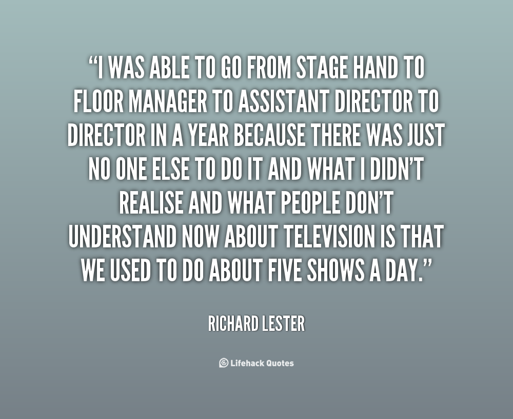 Richard Lester's quote #1