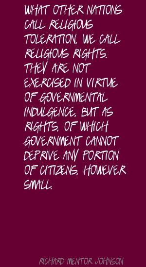 Richard Mentor Johnson's quote #1