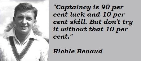 Richie Benaud's quote #4