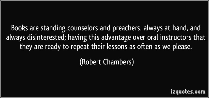 Robert Chambers's quote