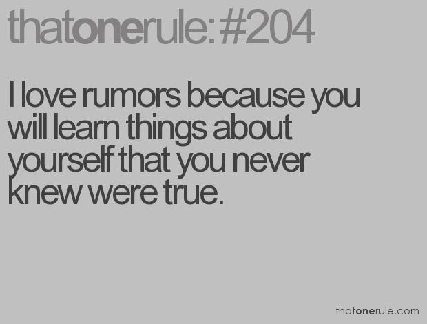 Rumour quote #1