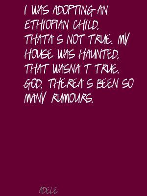 Rumours quote #1
