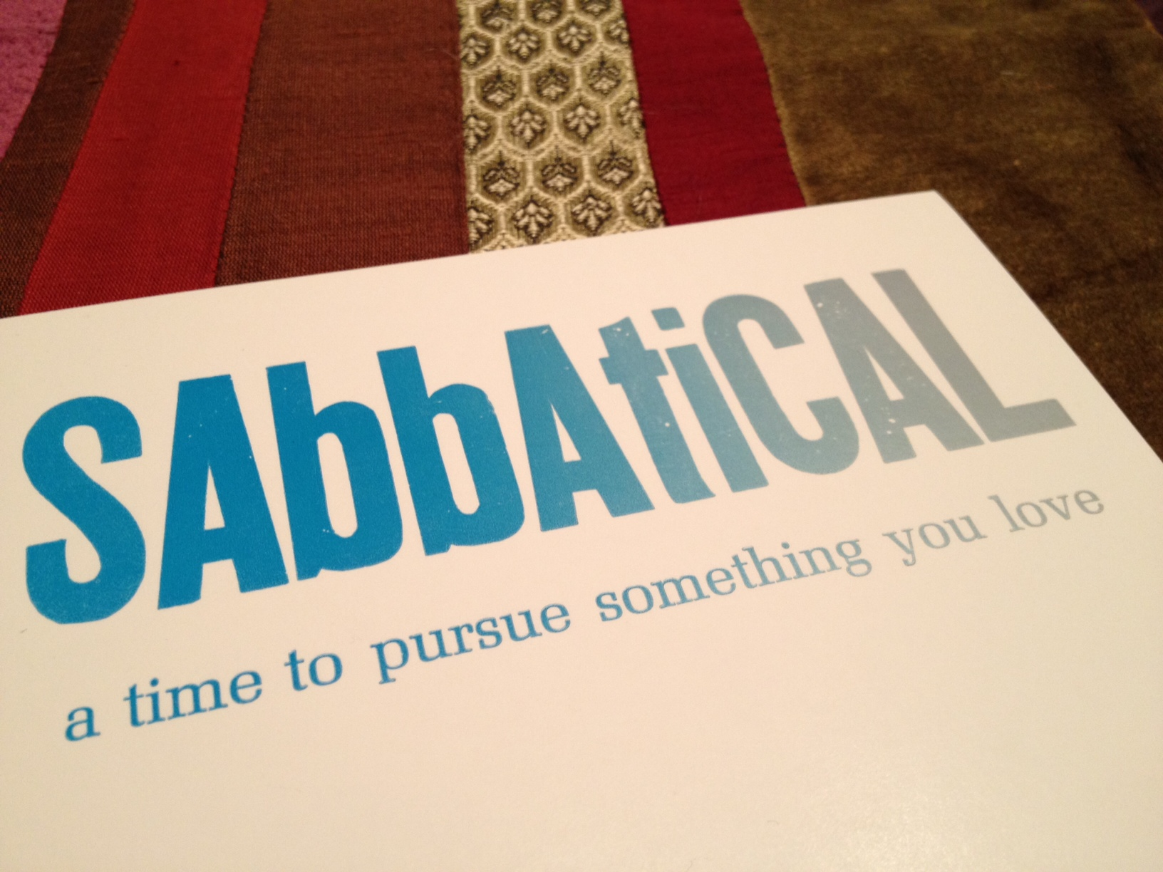 Sabbatical quote #1