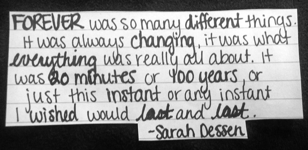 Sarah Dessen's quote #7