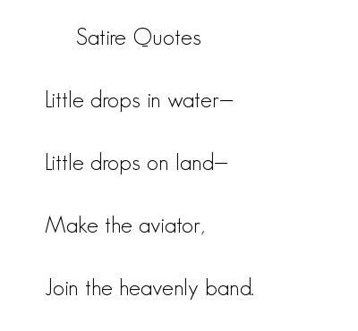 Satire quote #4