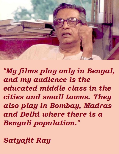 Satyajit Ray's quote