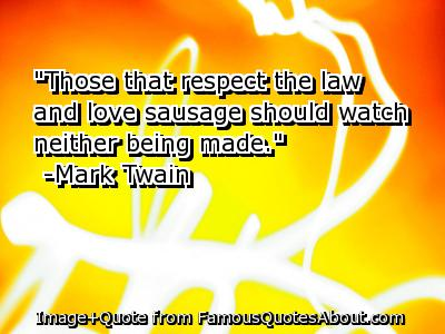 Sausage quote #2