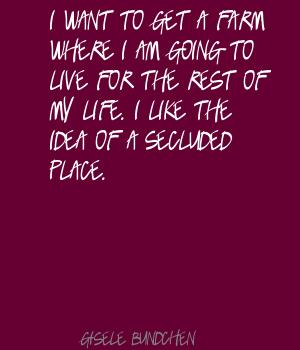 Secluded quote #1