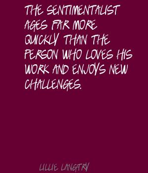 Sentimentalist quote #2